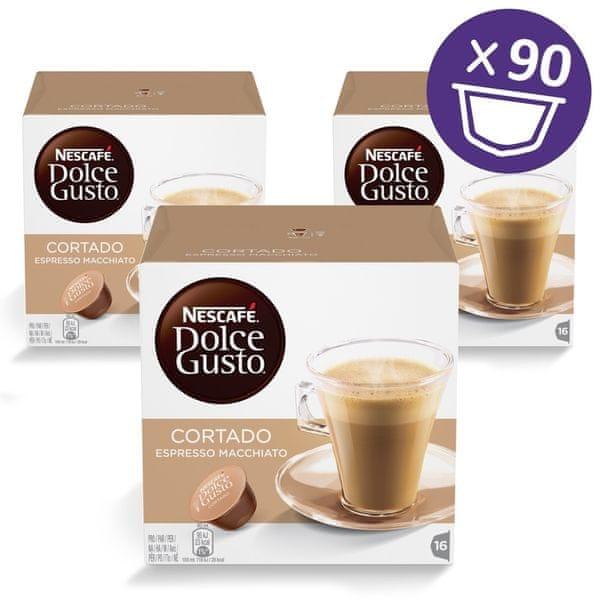 NESCAFÉ Dolce Gusto® kávové kapsle Cortado 3balení XXL
