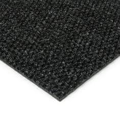 FLOMAT Černá kobercová zátěžová vnitřní čistící zóna Fiona, FLOMAT - 1,1 cm