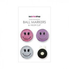 Girls Golf Sisters in Law 3+1 Smiley dámské Ballmarker & Magnetic Clip