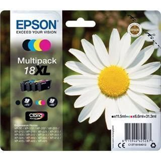 Epson komplet črnil 18XL, črno, cyan, magenta, rumeno
