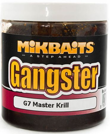 Mikbaits Boilies v dipu  Gangster 250 ml g7 master krill, 20 mm