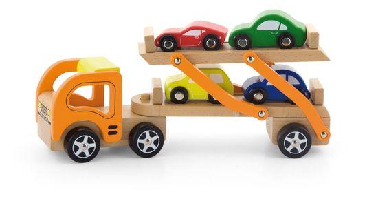 Viga Dřevěný tahač s auty
