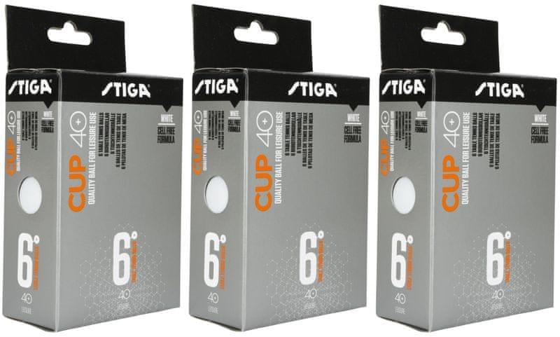 Stiga CUP ABS bílé 18 ks