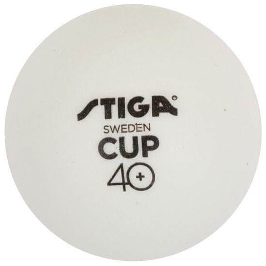 Stiga loptice za stolni tenis CUP ABS, bijele, 18 komada