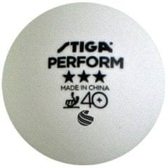 Stiga loptice za stolni tenis Perform ABS, bijele, 6 komada