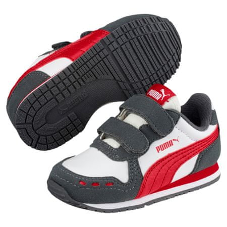 Puma Cabana Racer SL V Inf White-Iron Gate-Ribbon Red 25