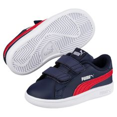 Puma Smash v2 L V - Peacoat-Ribbon Red-White