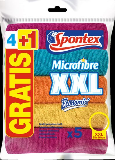 Spontex Microfibre Economic XXL 4+1