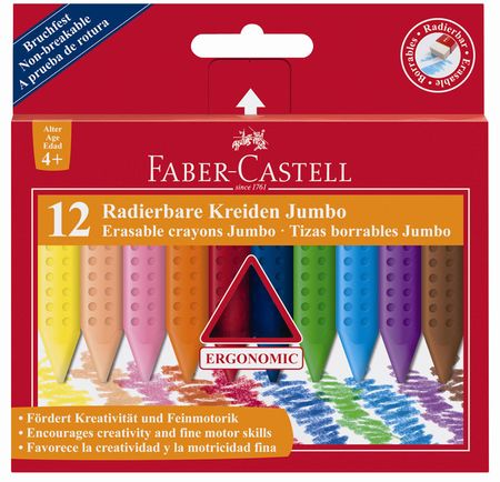 Faber-Castell voščene barvice Grip Jumbo 12/1