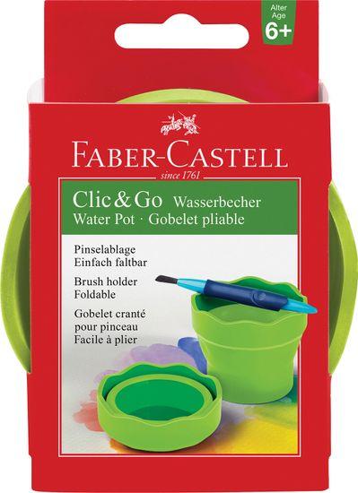 Faber-Castell lonček Click&Go, svetlo zelen