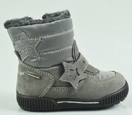 Primigi dívčí zimní obuv 21 šedá  f8114f73d04