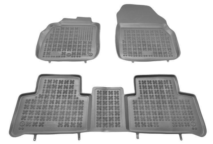 REZAW-PLAST Gumové koberce, sada 3 ks (2x přední, 1x spojený zadní), pro vozy typu Renault Scénic a Grand Scénic