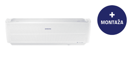 Samsung stenska klimatska naprava AR12NXWXCWKNEU, z montažo