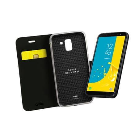 SBS preklopna torbica Samsung Galaxy J6 2018, črna