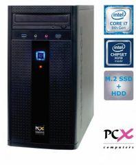 PCX namizni računalnik EXAM G2870 i7-8700/16GB/SSD256GB+1TB/FreeDOS (PCX EXAM G2870)