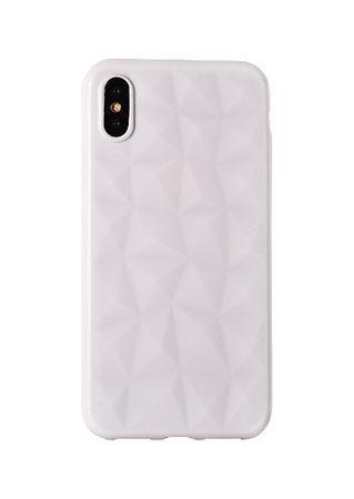 Silikonski ovitek Diamond za Huawei P20, bel