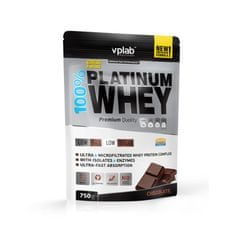VPLAB beljakovinski izolat in koncentrat iz sirotke 100% Platinum Whey, čokolada, 750 g