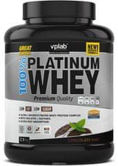 VPLAB beljakovinski izolat in koncentrat iz sirotke 100% Platinum Whey, čokolada-mint, 2300 g