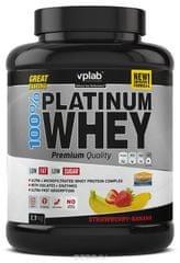 VPLAB beljakovinski izolat in koncentrat iz sirotke 100% Platinum Whey, jagoda-banana, 2300 g