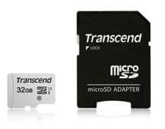 Transcend spominska kartica microSDHC 32GB 300S, 95/45 MB/s, C10, UHS-I Speed Class 3 (U3), adapter