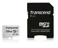 Transcend spominska kartica microSDXC 128GB 300S, 95/45 MB/s, C10, UHS-I Speed Class 3 (U3), adapter