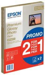 Epson Foto papír Premium Glossy, A4, 2x15 listů, 255g/m2, lesklý (C13S042169)