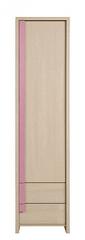 CAPS, skříň REG1D2S, dub sv. belluno/růžová