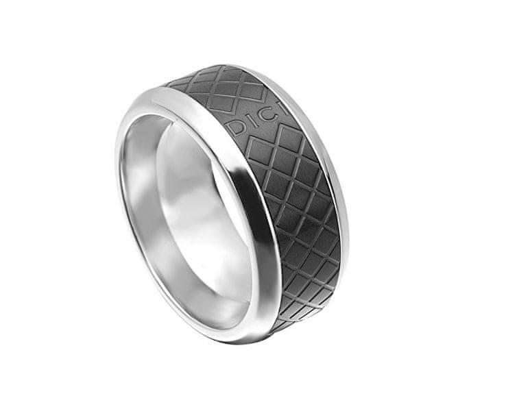 Dici Milano Pánský prsten s černým vzorem DCRG5015020 60 mm
