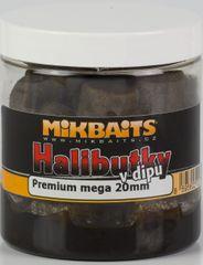 Mikbaits Chytací Halibutky  v dipu 20 mm 250 ml