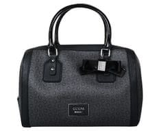 Guess Dámská kabelka Women`s Burnley Faux-Leather Logo Box Satchel Coal