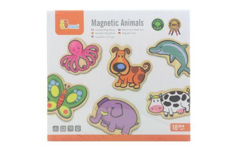 Lamps Drevené magnetky 20 ks - zvieratká  01be43ef635