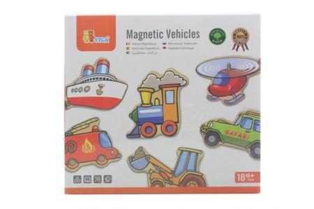 Lamps Drevené magnetky 20ks - dopravné prostriedky  4b8215b1991