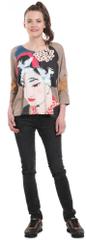 Desigual ženska majica s kratkimi rokavi Madame Butterfly