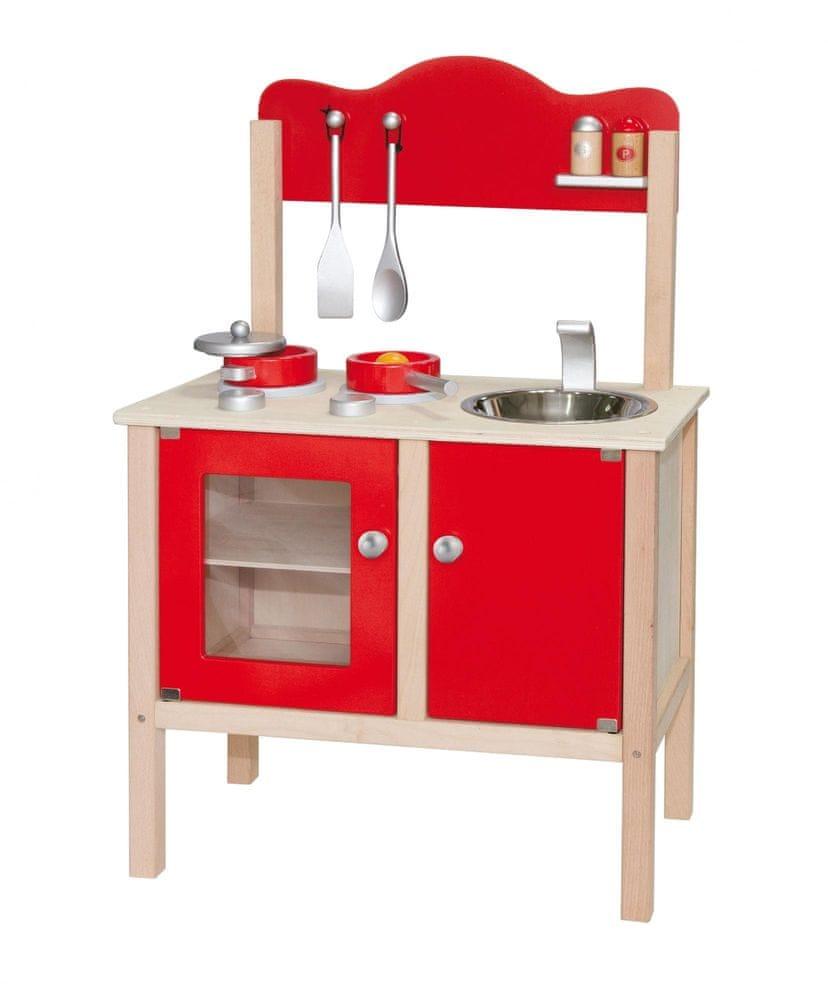 Viga Dřevěná kuchyňka - červená