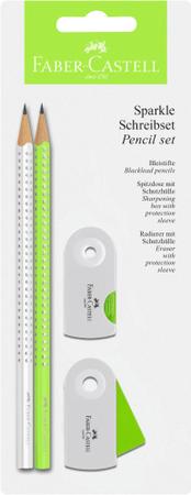 Faber-Castell grafični svinčnik Sparkle BC 2018, zelen/bel