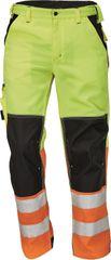 Cerva Pánské reflexní montérky Knoxfield Hi-Vis žlutá/oranžová 48