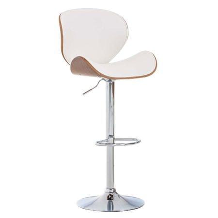 BHM Germany Barová židle Edward ořech, bílá