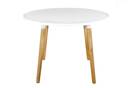 Mørtens Furniture Jídelní stůl Clara kulatý, 100 cm, bílá