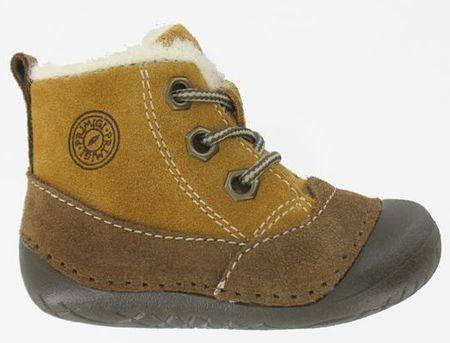 Primigi buty zimowe za kostkę chłopięce 21, brązowy