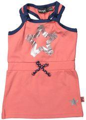 Dirkje Dívčí šaty na ramínka - oranžové