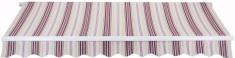 MAKERS platnena streha z ročnim upravljanjem Padova SPD039, 4 x 2,5 m, bež/rdeča