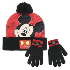 Disney chlapecký zimní set Mickey Mouse - černo-červený