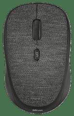Trust brezžična miška YVI Fabric, črna