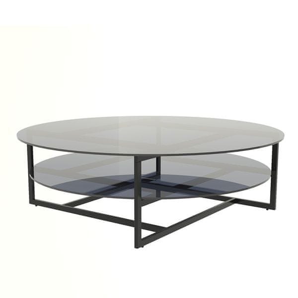 Design Scandinavia Konferenční stolek Locika kulatý, 120 cm, čiré sklo