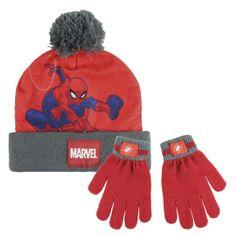 Disney chlapecký zimní set Spiderman - červený