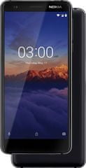 Nokia 3.1 2/16GB Dual SIM, Black Chrome mobiltelefon