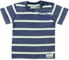Dirkje Chlapecké proužkované tričko s nápisem - barevné
