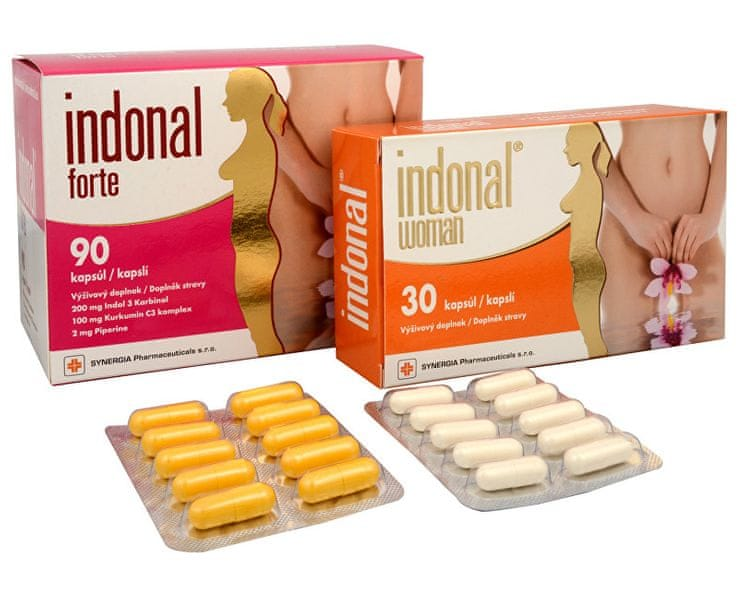 Synergia Indonal Forte 90 cps. + Indonal Woman 30 cps.