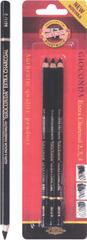Koh-i-Noor oglje v svinčniku KHN 3 razl. trd. 3/1