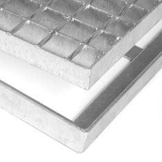 FLOMAT Čistící venkovní vstupní rohož ze svařovaných podlahových roštů bez gumy s pracnami Galva - 3,5 cm